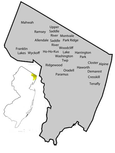 Bergen County Coverage Map
