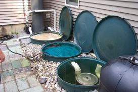 Custom filtration systems pond filter maintenance nj for Koi pond sand filter system