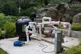 Custom filtration systems pond filter maintenance nj for Large pond filtration system